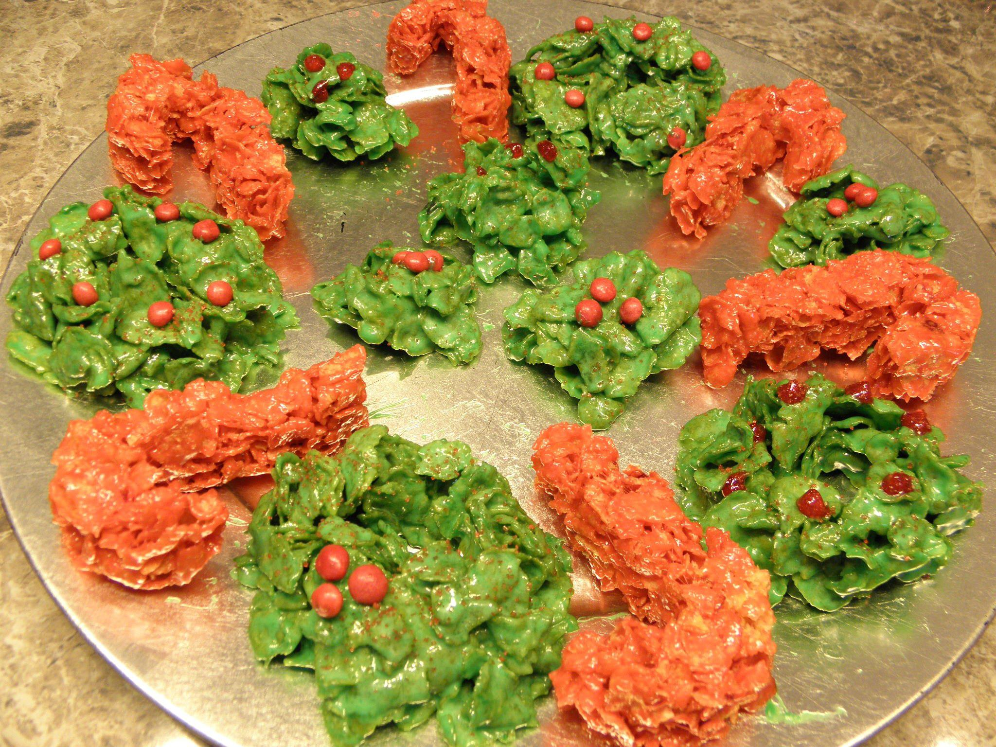 recipe: cornflake wreaths recipe [24]