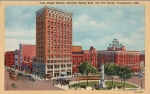 This undated linen postcard depicts the Realty Building, Tod Hotel and East End of downtown Youngstown.