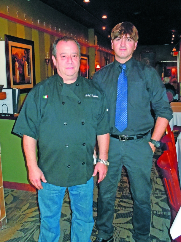 Roberto Faraglia and John Naples of Roberto's Restaurant in downtown Youngstown. Electronic image by John Webster.