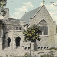 Richard Brown Memorial Chapel on Elm Street during construction