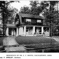 Dr. C.C. Booth House on Bryson, 1915. By Charles F. Owsley.