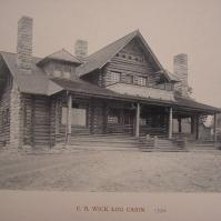 C.B. Wick Log Cabin in 1889