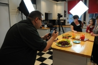 'Homeplate' co-producer Ron Flaviano photographing the food.