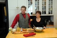 Mitch and Helga in the kitchen