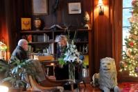 Jack Carlton and Paula Jasper in the library