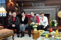 From left: Wolfgang Wengler, Charlotte Tibbetts-Wengler, Mitch Lynch and Helga Wengler