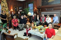 Cast and friends of 'Homeplate' at the Garlick House