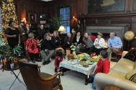 Cast and friends of 'Homeplate' at the Garlick Mansion.