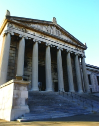 Stambaugh Auditorium on Wick Park