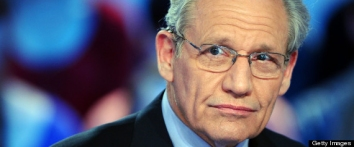 """US journalist Bob Woodward takes part in the TV show """"Le Grand Journal"""" on Canal+ channel, on April 7, 2011 in Paris. Woodward, and investigative reporter who works for the Washington Post since 1971, did much of the original news reporting on the Watergate scandal, along with his colleague Carl Bernstein. MIGUEL MEDINA/AFP/Getty Images"""