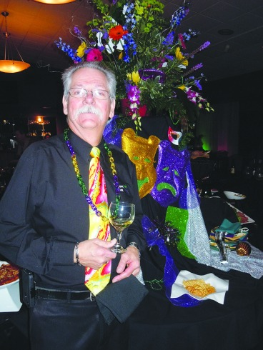 Dennis Huston of Vernon's Cafe in Niles at the recent Fat Tuesday seafood and wine event. Metro Monthly electronic image by John Webster.