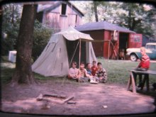 Camped out on the North Side of Youngstown in 1957. Courtesy of Dick Franco.