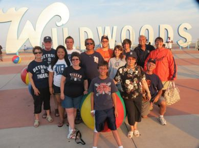 Slaviero family in Wildwood, N.J. Courtesy of Jackie Slaviero.
