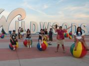 Having a (beach) ball in Wildwood, N.J. Courtesy of Jackie Slaviero.