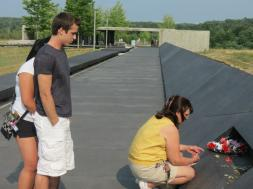 Paying respects at the Flight 93 National Memorial in Stoystown, Pa. Courtesy of Jackie Slaviero.