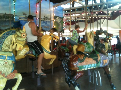 Carousel at Conneaut Lake Park. By Ron Flaviano.