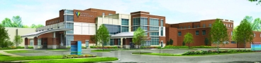 This rendering depicts the proposed new entrance for Northside Medical Center in Youngstown. Electronic image courtesy of ValleyCare.