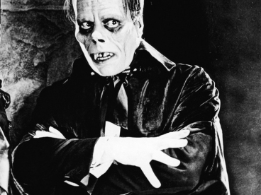 Lon Chaney as the Phantom in the 1925 silent film classic, 'The Phantom of the Opera.'