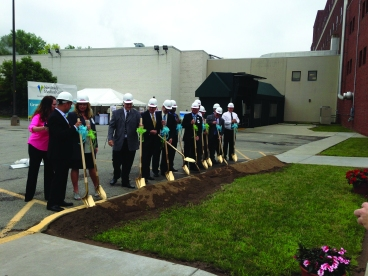 Public officials, institutional neighbors and representatives from ValleyCare took part in groundbreaking ceremonies in August for Northside Medical Center. Electronic image by Mark C. Peyko and Metro Monthly.
