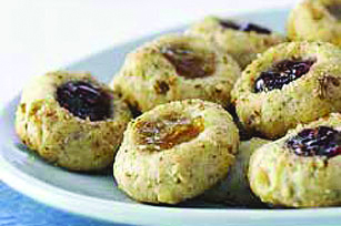 Bird's nest cookies – also known as thumbprints. Electronic image courtesy of Kraft.