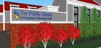 Exterior of the new Canfield Library. Image courtesy of the Public Library of Youngstown and Mahoning County.