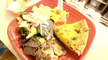 MItch Lynch's quiche with a winter salad from the Sprouted Table