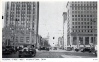 West Federal Street, looking west, circa 1940