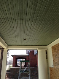 New porch ceiling color