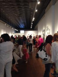 Opening night at Trumbull Art Gallery in downtown Warren